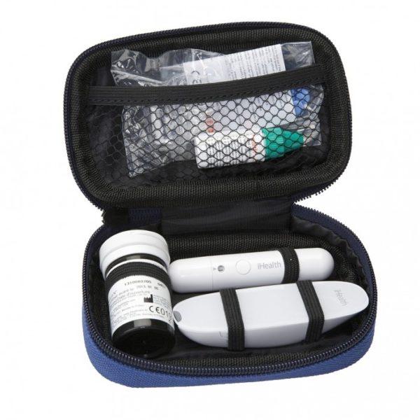 sacoche de transport pour glucomètre ihealth gluco BG5